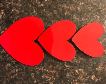 Small Red Heart Magnets