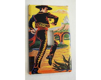 paint by number switch plate retro vintage 1950s rockabilly wall decor kitsch