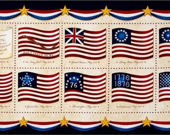 Long May She Wave Flags Panel by Quilting Treasures