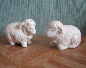"""Vintage """"Sheep"""" Salt and Pepper Shakers"""