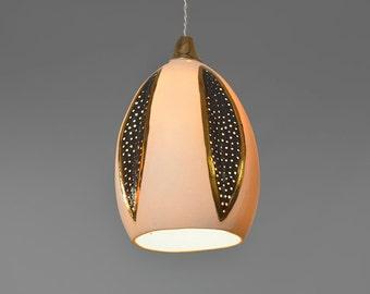 Hanging lamp shade. Hanging pendant light. Porcelain pendant light. Porcelain lamp