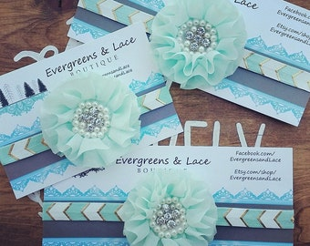 "EXTRA LARGE 8""x3"" CUSTOM Accessory Card, ooak Headband Card, Hair Bow Card, Boutique Product Card, Custom Boutique Packaging, Card Stock"