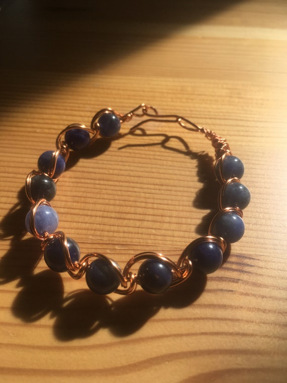 Sodalite Calming Heart Healing Bracelet Amulet