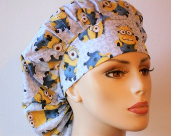 Minions Indispicable Me Surgical Womens Bouffant Scrub Hat- Minions Indispicable Me  Background #3
