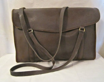COACH briefcase, Rare Leather Briefcase, Made in New York City, USA Coach briefcase, Laptop carrier