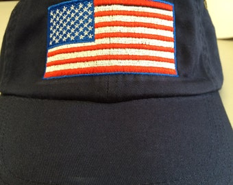 Embroidered American Flag Hats