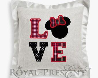 Love Mouse Appliqué machine embroidery design
