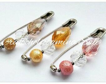 craftoholictamina Sale ~  Various Style 4 to 4.8cm Long Safety Pin Brooch/Hijab/Scarf/Shawl/Sharong Pins