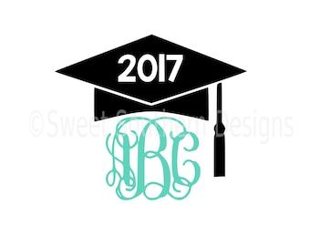 monogram graduation cap 2018 svg instant download design for rh etsy com