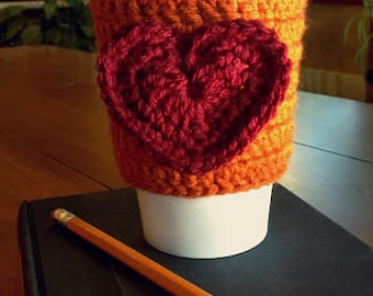 Crocheted Heart Cozy