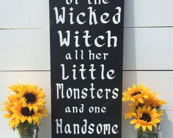Halloween Decor / Fall Decorations / Wall Art / Wall Decor / Witches / Monsters / Costumes / Fall Decor / Fall Signs Outdoor
