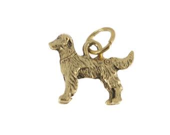 Golden retriever charm in antique gold plated pewter. Golden retriever charm. Golden Retriever Jewelry. Golden Retriever  bracelet.