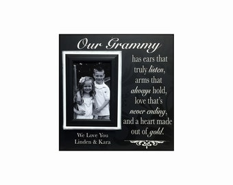 Grandmother Gift from Grandchildren ~ Picture Frame For Grandma ~ Personalized Grandmother Gift~ Ears that truly listen..Custom Frame Gift