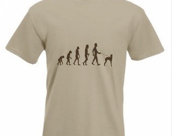 Evolution To Grey Hound t-shirt Funny Dog T-shirt sizes Sm To 2XXL