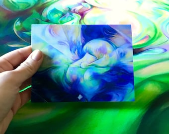 "Note Card ~ Visionary Art ~ Love ~ Thank You Card ~ Greeting Card ~ ""Window into the Heart Space"""