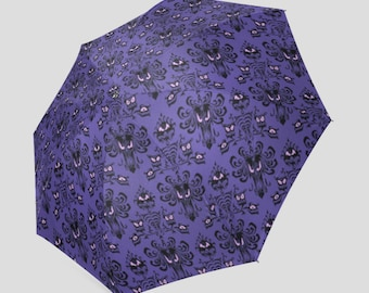 Made to Order (Ships in 4 weeks)  Haunted Mansion Wallpaper Inspired Umbrella