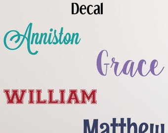 Name Wall Decal - Nursery Name Decal - Toy Box Decal - Name Decal for Nursery - Name Stickers - Custom Name Decal - Baby Name Decals