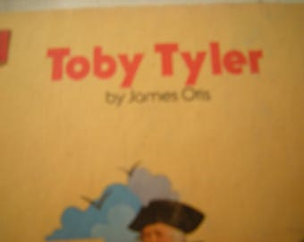 vtge book-Toby Tyler-james Otis author-Children's classic library-Bobley publishing-1979 edition-child room-hard cover-no jacket-