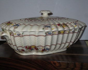 Vintage 1950's Spode Copeland Cowslip S 713 Pattern Soup Tureen with lid