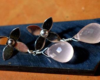 Rose Quartz Earrings, Rose Quartz Jewelry, Rose Quartz, Gemstone Earrings, Gemstone Jewelry, Pink Stone Earrings, Rose Quartz Stud Earrings