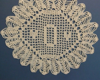 "Custom Crocheted Initial Doilies ""o"""
