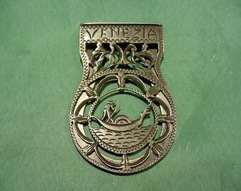 Money Clip Venezia 800 Silver Vintage Jewelry 23.1 grams Venice Italy Souvenir 14T339