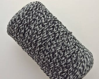 1 roll of wire crochet 4 cotton, boring or created, mottled black and grey, 350 Gr E.110 ref.