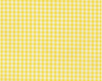 Small Gingham - Yellow 1/8 Inch Small Gingham from Robert Kaufman's Carolina Gingham Collection - P-5689