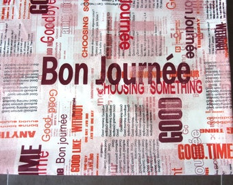 Coupon fabric upholstery 50 x 67 cm writing