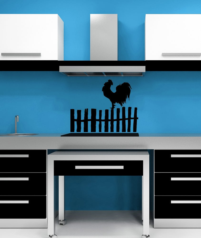 Rooster Decal Rooster Decor Chicken Decal Chicken Decor