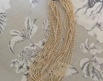 Pearls/ Multi-Strand Freshwater Pearl Necklace.