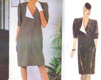 80s Emanuel Ungaro Womens Pullover Shift Style Dress Vogue Sewing Pattern 1173 Size 12 Bust 34 UnCut Vogue Paris Original Patterns