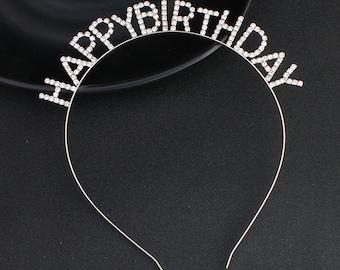 Happy Birthday Crystal Headband