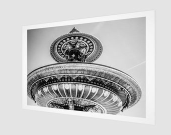Parisian fountain Archival Quality Art Print, 1:50 Limited Edition / wall art / home decor / modern / industrial / vintage /. France ..