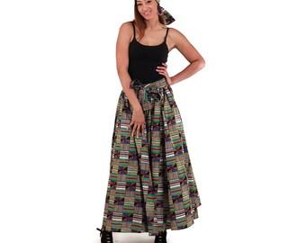 Africa Kente Maxi Skirt