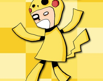 Pokemon Cosplay Series Pikachu Art Print Video Game