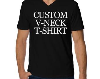 Create Your Own V-Neck Men T-Shirt