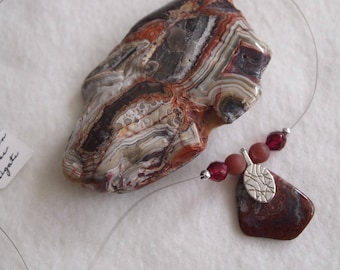 Invisible Mexican Lace Agate Necklace