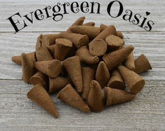 Evergreen Oasis Incense Cones - Hand Dipped Incense Cones