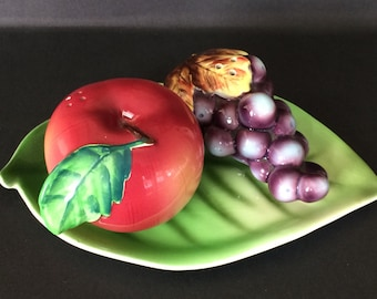 Apple and Grape Salt and Pepper Shakers PY