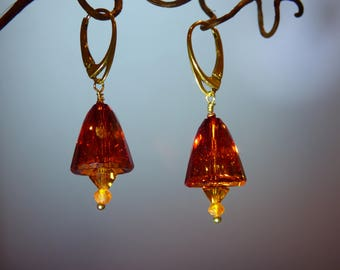 Valentine Red Magma Swarovski Earrings