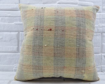 20x20 vintage kilim pillow decorative kilim pillow pillow cover anatolian kilim pillow throw pillow sofa pillow turkish kilim pillow No 510
