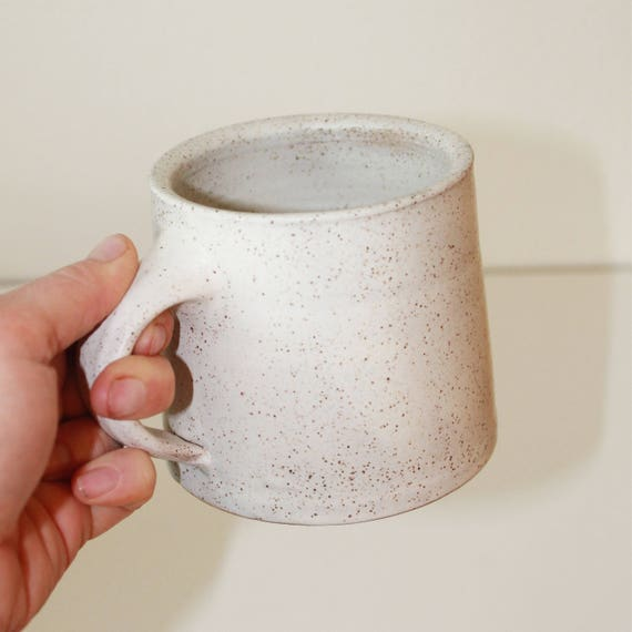 16oz White mug, ceramic mug, coffee mug, coffee mug, tea mug, handmade mug,