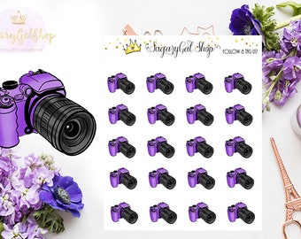 Camera Photography Icon Planner Sticker Sheet