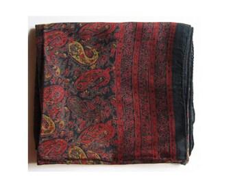 vintage cotton paisley scarf