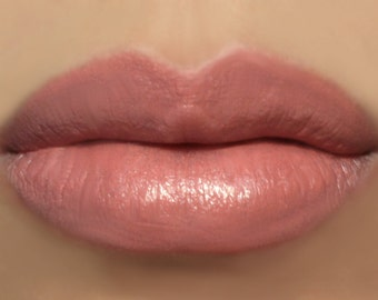 """Vegan Peach Pink Lipstick - """"Amorous"""" natural lip tint"""