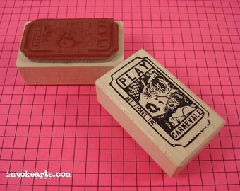 Carnevale Ticket Stamp / Invoke Arts Collage Rubber Stamps