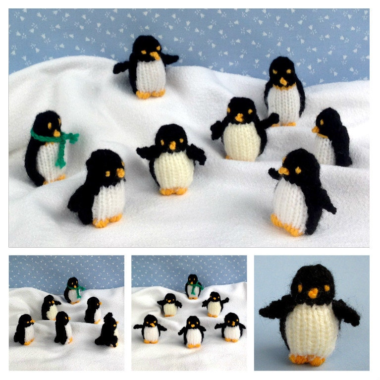 TINY PENGUINS knitted penguin knitting pattern Instant