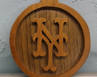 new york mets scroll saw cut ornament