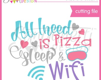 Pizza SVG, sleep svg, lettering, lettering svg, SVG, DXF, Cutting Files, svg Files for Cutting Machines